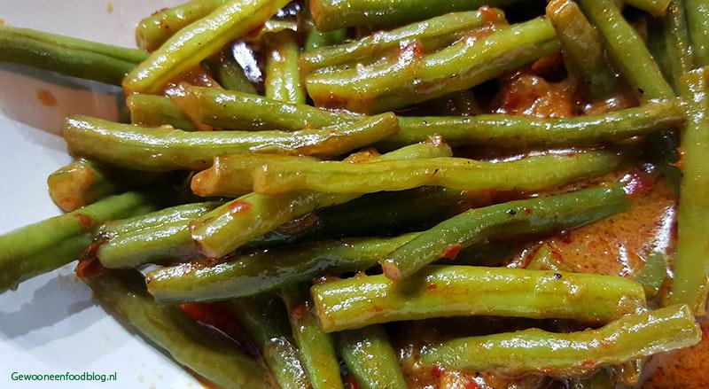 Indonesische Sajoer boontjes (Sayur buncis)