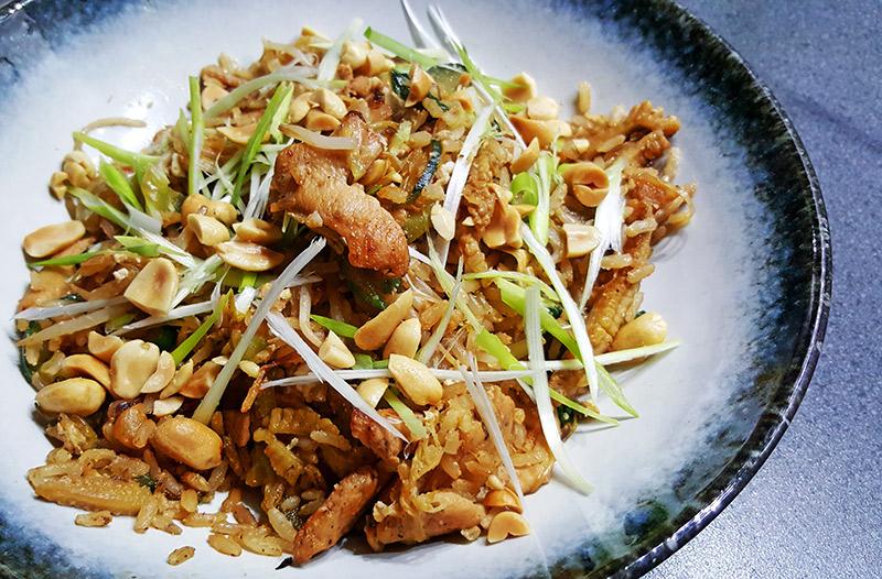 Five spice chicken met gebakken rijst