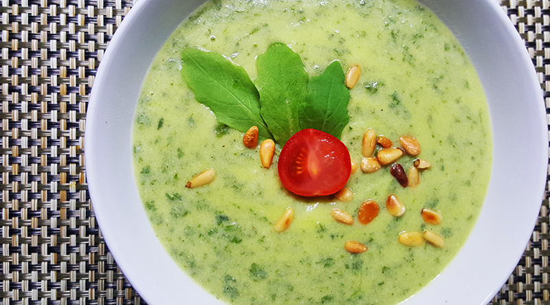 Courgettesoep met rucola | Gewoon een foodblog!