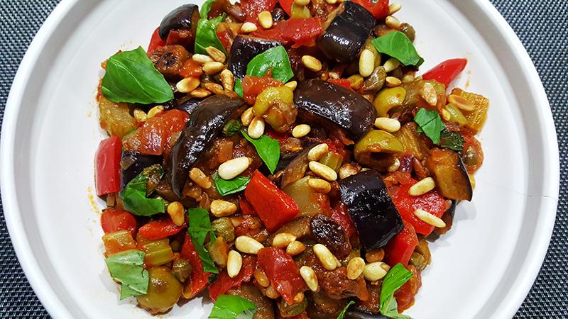 Caponata (Siciliaans groentegerecht met aubergine)
