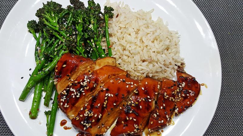 Kip teriyaki met bimi en zilvervliesrijst | Gewoon een foodblog