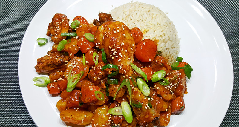 Dak bokkeum tang met bloemkool | Gewoon een foodblog!