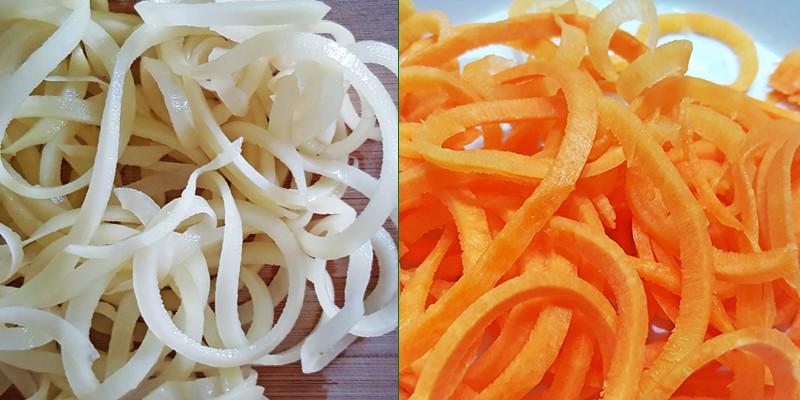 Wortel en aardappel gesneden | Gewoon een foodblog!