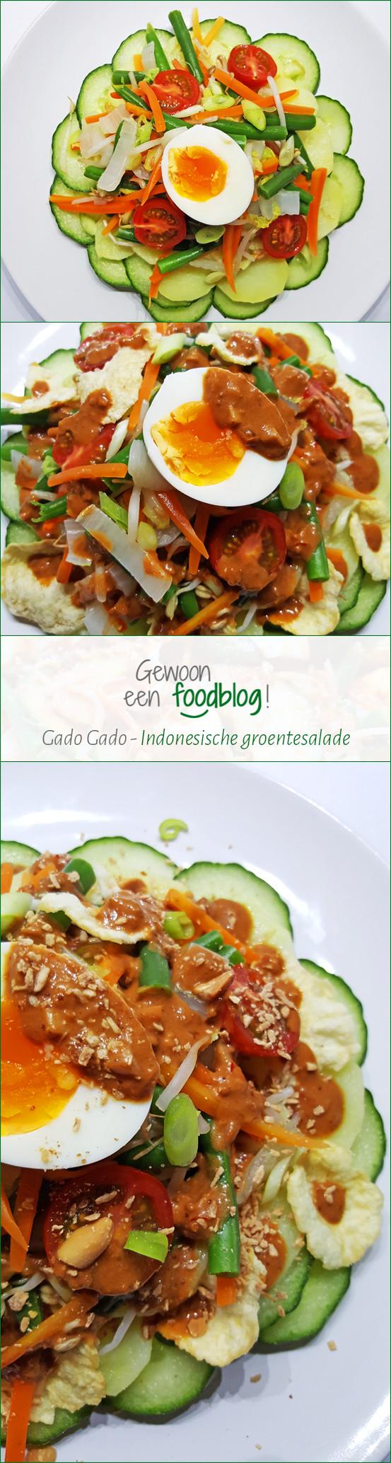 Gado Gado   Indonesische groentesalade met pindasaus