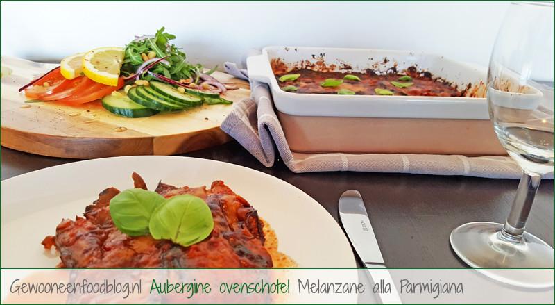 Glutenvrije aubergine ovenschotel | Gewoon een foodblog!