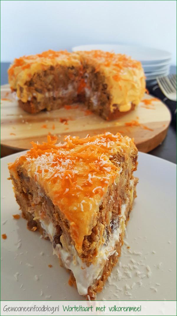 Gezondere worteltaart met volkorenmeel | Gewoon Een Foodblog!