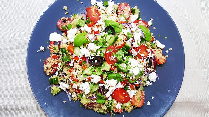 Griekse couscous salade | Gewooneenfoodblog.nl