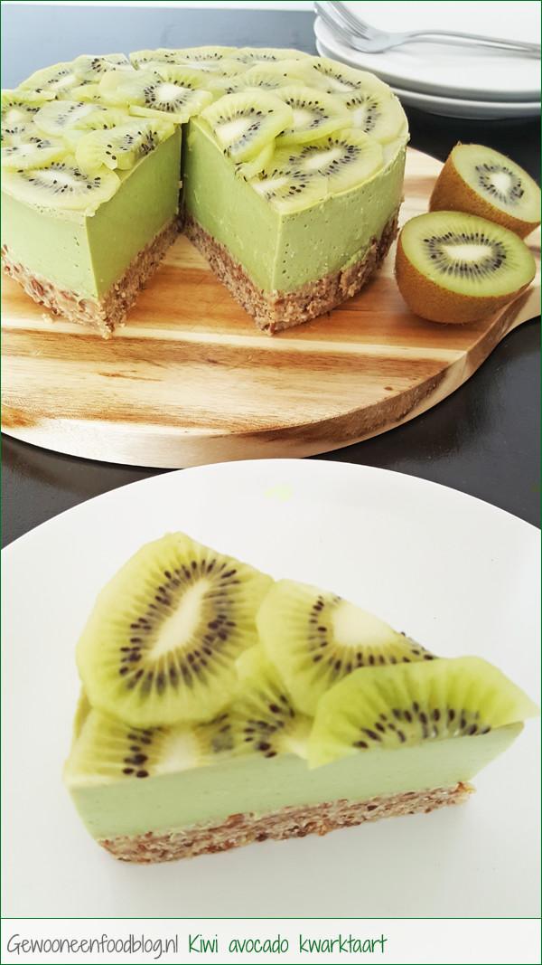 Kiwi avocado kwarktaart | Gewooneenfoodblog.nl