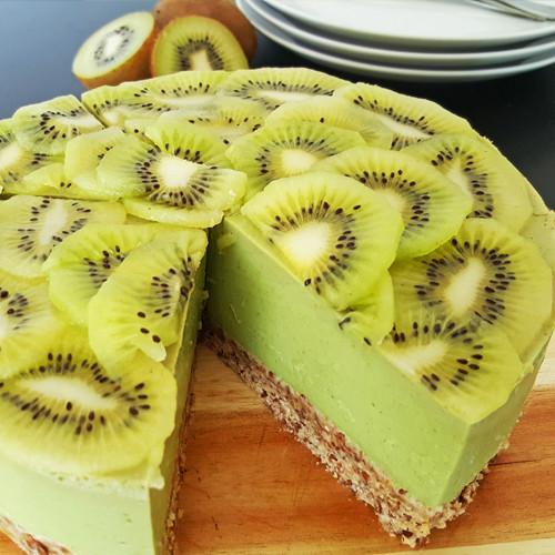 Kiwi avocado kwarktaart