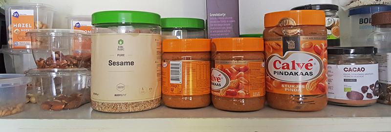 Calvé pindakaas voorraadje | Gewooneenfoodblog.nl