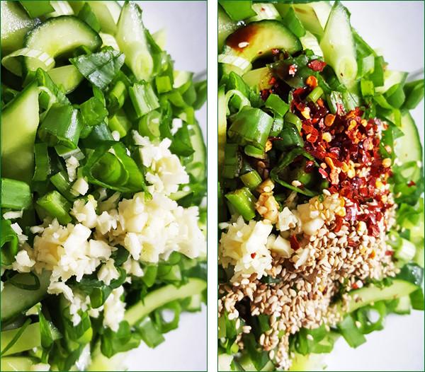 Pittige komkommersalade met rijst |Gewooneenfoodblog.nl