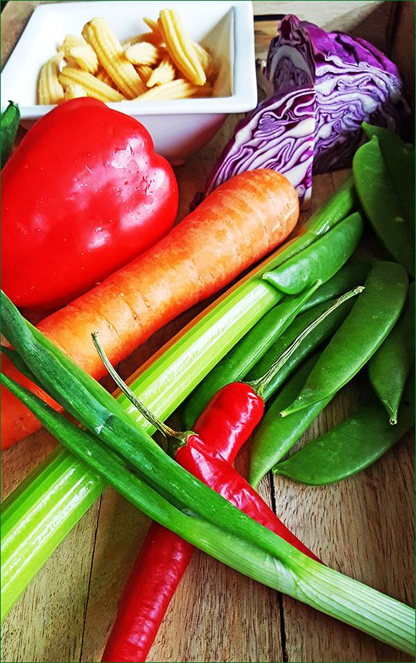 Ingrediënten zomerse groentesalade | Gewoon een foodblog!