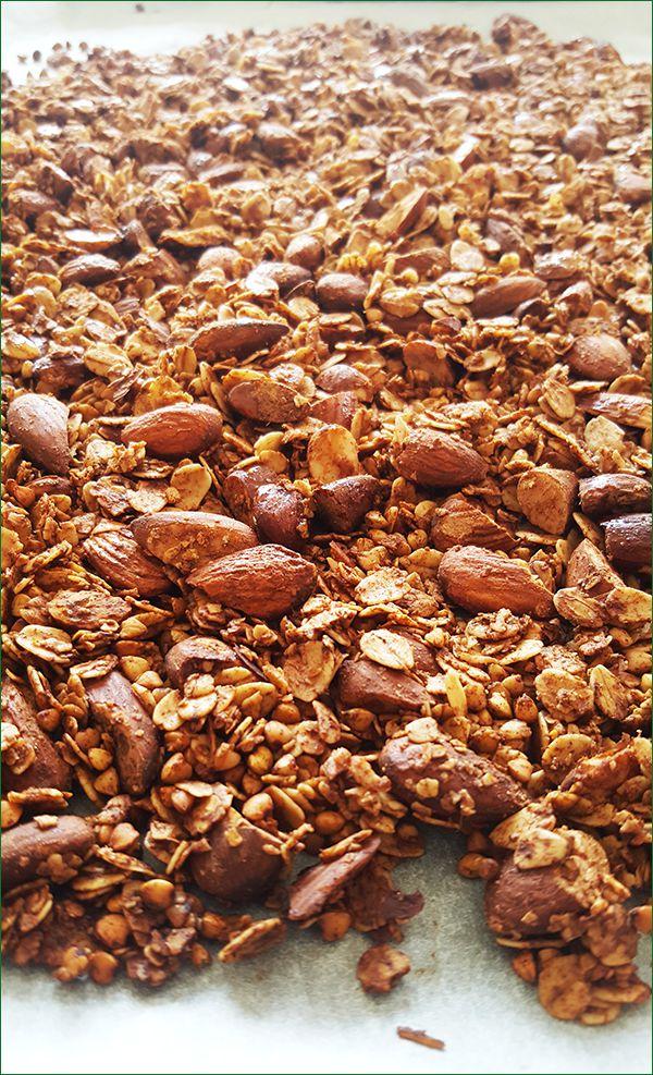 Geroosterde boekweit granola   Gewoon een foodblog!