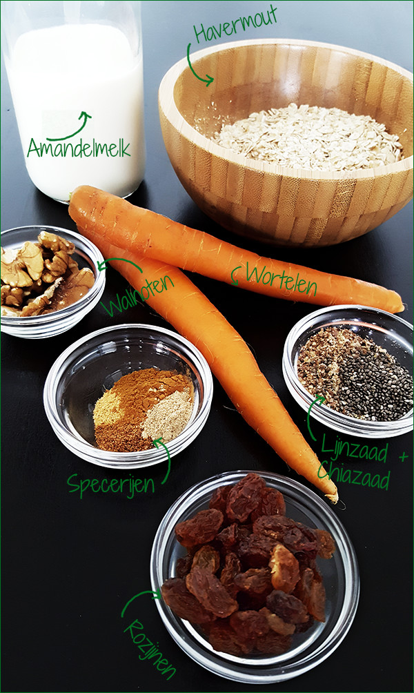Ingrediënten worteltaart havermout | Gewoon een foodblog!