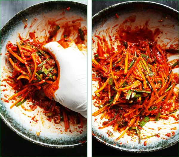 Vulling voor komkommer kimchi | Gewooneenfoodblog.nl