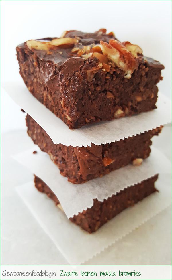 Zwarte bonen mokka brownies met Whey | Gewooneenfoodblog.nl