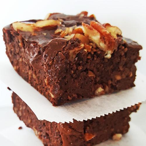 Zwarte bonen mokka brownies met Whey