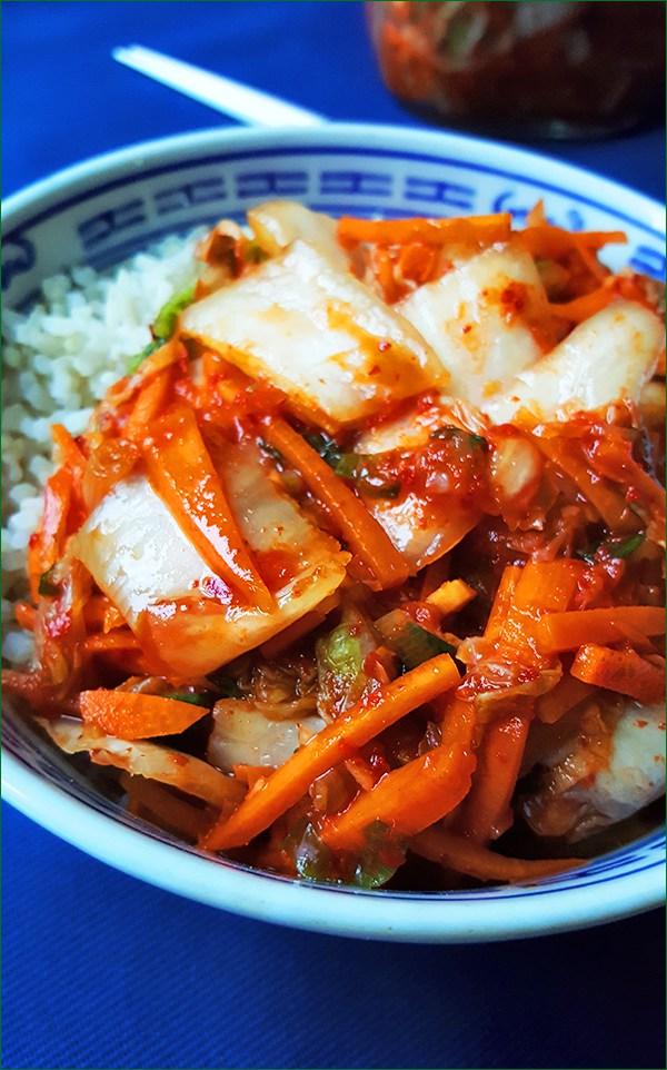 Simpele kimchi met rijst | Gewoon een foodblog!