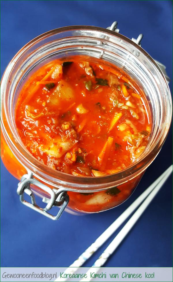 Koreaanse kimchi van Chinese kool recept | Gewooneenfoodblog.nl