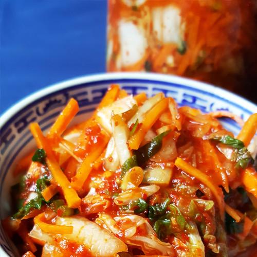 Simpele kimchi van Chinese kool (Baechu kimchi)