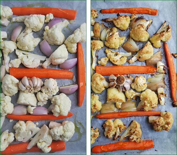 Soep van geroosterde bloemkool en knoflook maken | Gewooneenfoodblog.nl