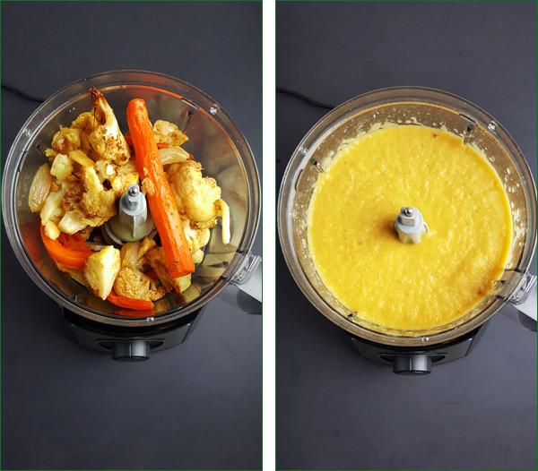 Soep van geroosterde bloemkool en knoflook maken | Gewoon een foodblog!