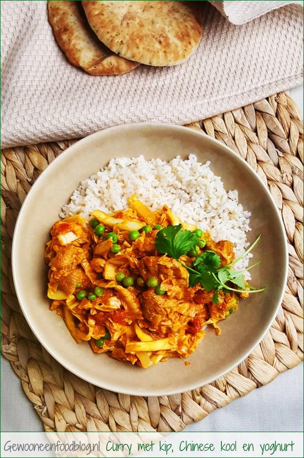 Curry met kipdijfilet, Chinese kool en yoghurt | Gewooneenfoodblog.nl