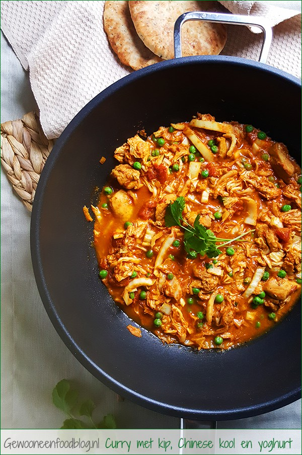 Milde Indiase curry met kip, Chinese kool en yoghurt | Gewoon een foodblog!