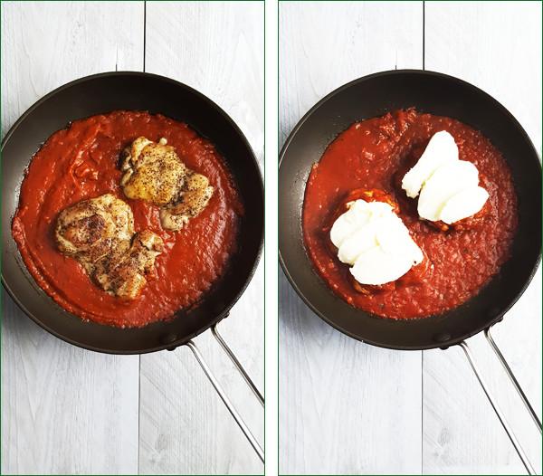 Kip met mozzarella en tomatensaus maken | Gewoon een foodblog!