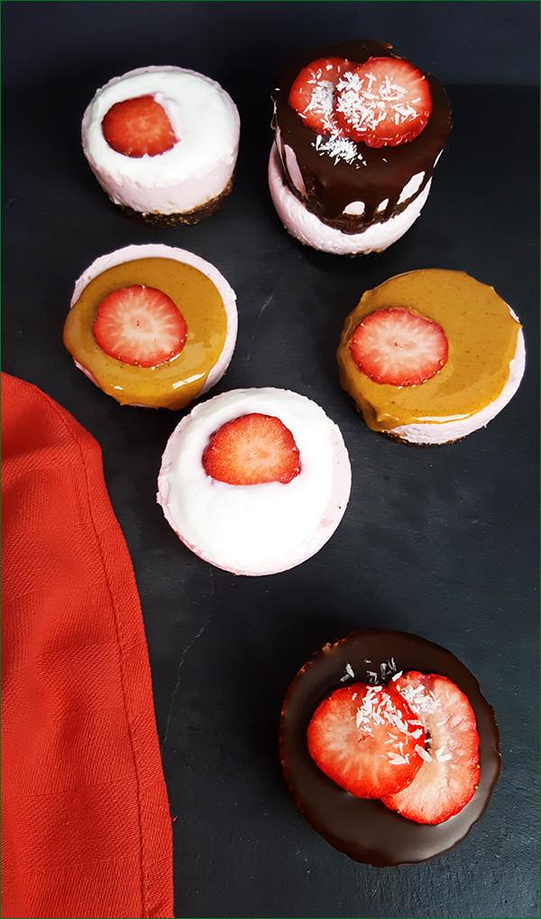 Gezonde kleine aardbeien kwarktaartjes | Gewoon een foodblog!