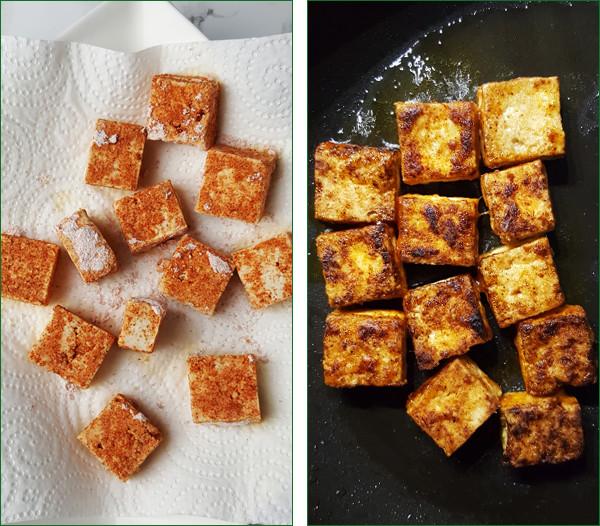 Pittige tofu met sesamzaadjes, gember en groenten maken | Gewooneenfoodblog.nl