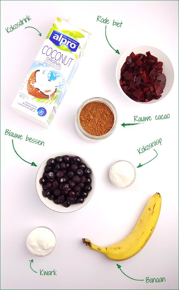 Ingrediënten rode bieten smoothie | Gewoon een foodblog!