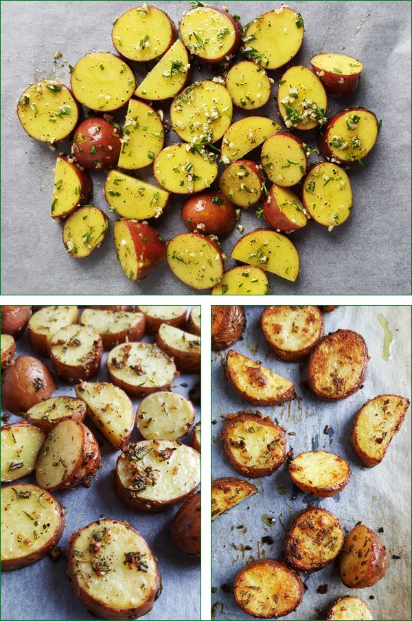 geroosterde roseval aardappelen
