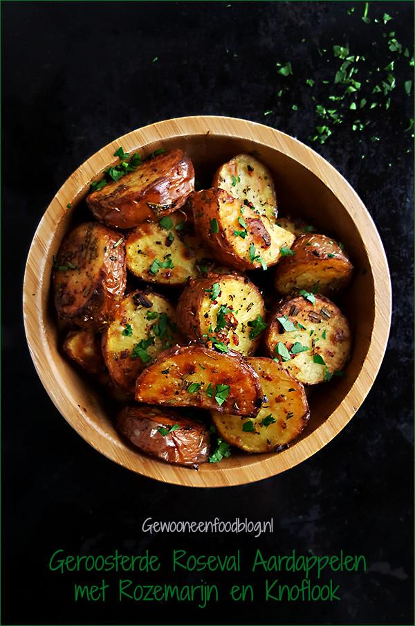 Roseval aardappelen uit de oven met rozemarijn en knoflook | Gewooneenfoodblog.nl