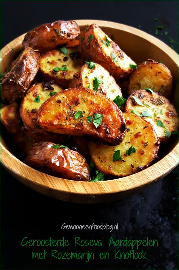 Geroosterde Roseval aardappelen met rozemarijn en knoflook | Gewooneenfoodblog.nl
