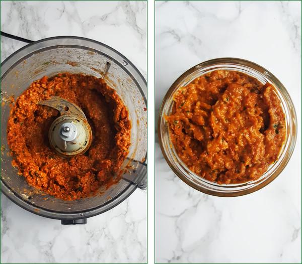 Rode pesto maken #2 | Gewooneenfoodblog.nl