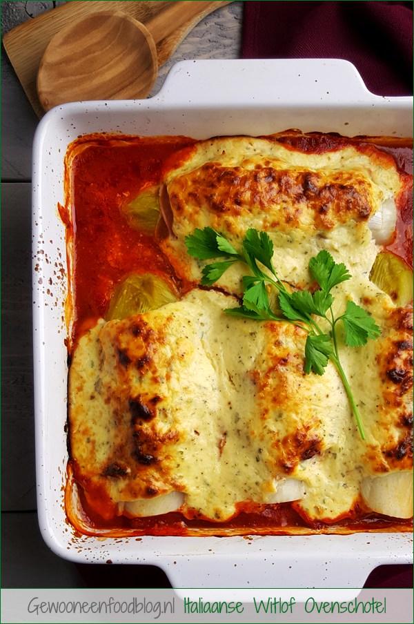 Witlof met pancetta, ricotta en Parmezaanse kaas | Gewooneenfoodblog.nl