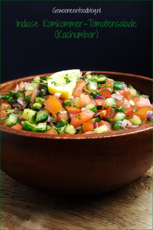 Indiase kachumbar salade | Gewooneenfoodblog.nl