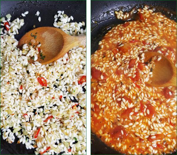 Risotto met tomaten en spinazie maken | Gewooneenfoodblog.nl