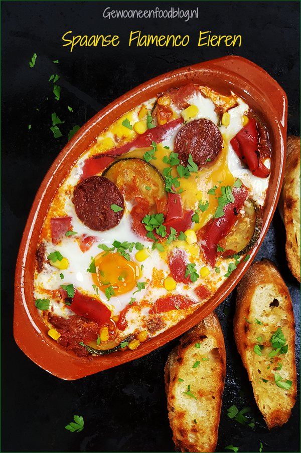Spaanse flamenco eieren (Huevos a la Flamenca) | Gewooneenfoodblog.nl