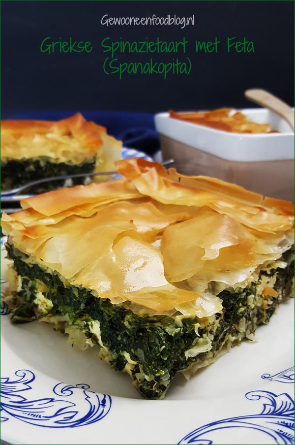 Griekse spinazietaart met feta (Spanakopita) | Gewooneenfoodblog.nl