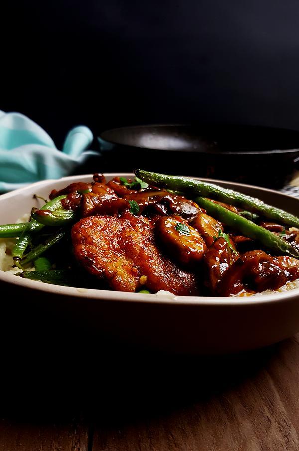 Kip met Madeirasaus en sperziebonen | Gewooneenfoodblog.nl