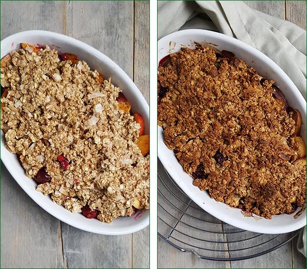 Nectarine rood fruit crumble | Gewooneenfoodblog.nl