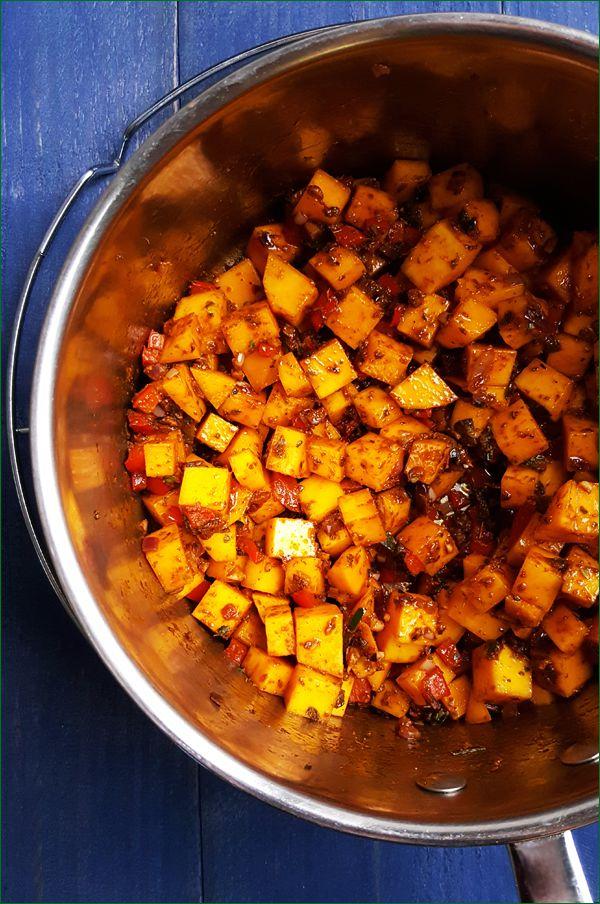 Vegetarische chili met flespompoen maken | Gewoon een foodblog!