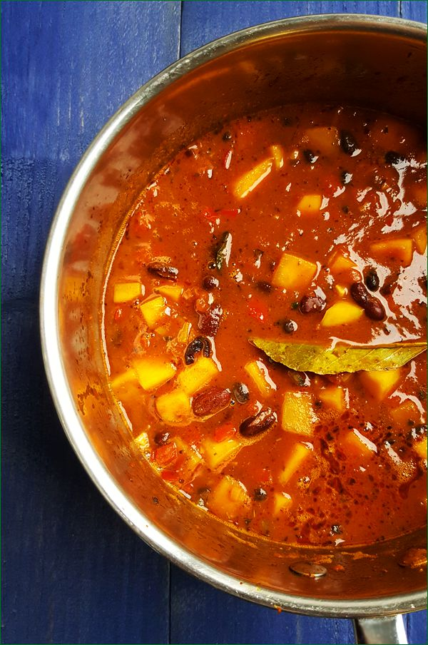 Vegetarische flespompoen chili maken | Gewooneenfoodblog.nl