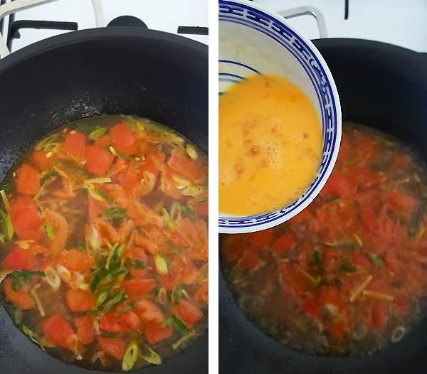 Chinese tomatensoep met ei maken #2 | Gewooneenfoodblog.nl