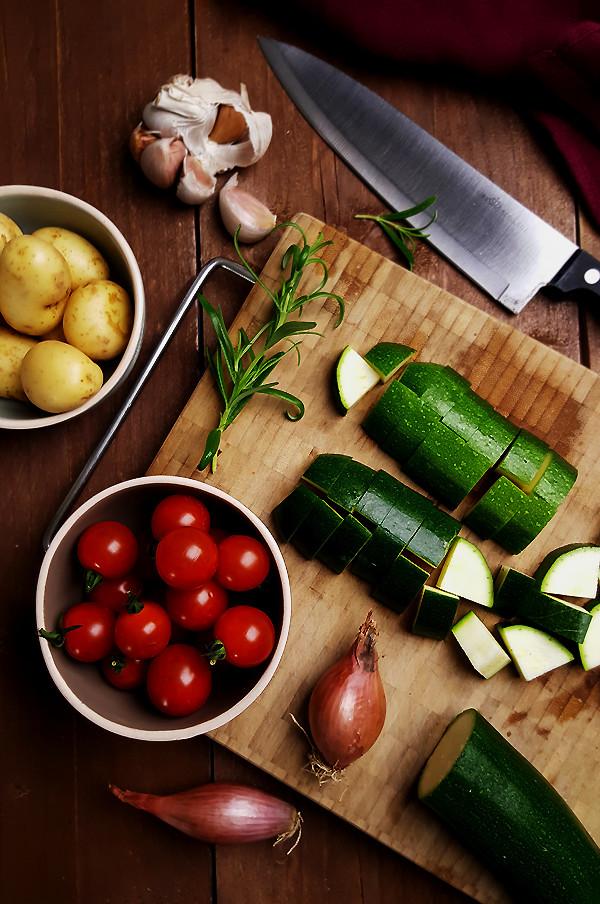 Ingrediënten mediterrane courgette gratin | Gewooneenfoodblog.nl