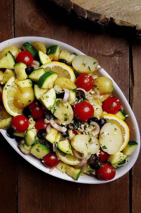 Ovenschotel met courgette, krieltjes en tomaatjes | Gewoon een foodblog!