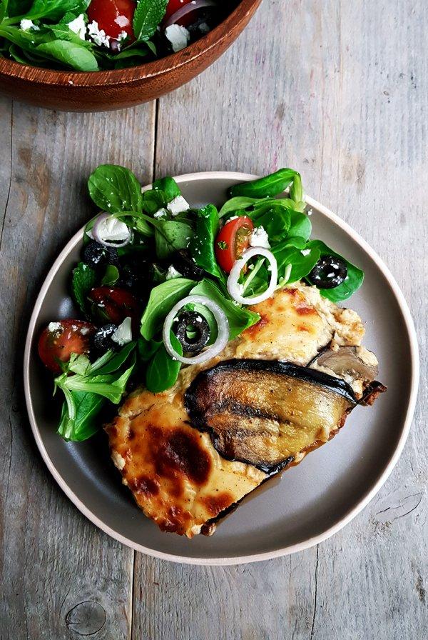 Griekse moussaka zonder aardappelen | Gewooneenfoodblog.nl