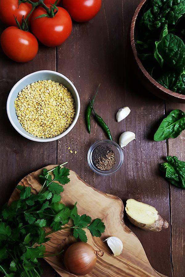 Ingrediënten linzencurry met spinazie | Gewooneenfoodblog.nl
